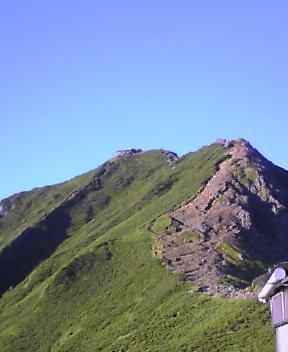 赤岳天望荘から赤岳を