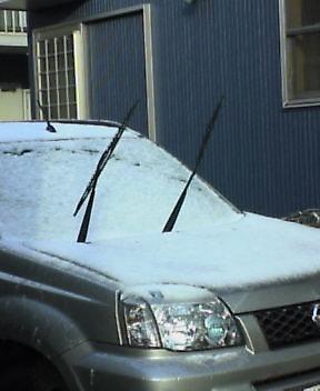 雪景色は束の間