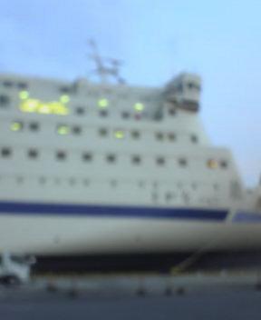 間もなく乗船…モブログ